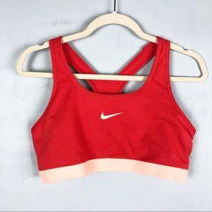 Nike Dri-Fit Red Classic Racerback Sports Bra